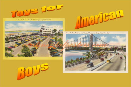 Toys for American Boys Cars, retro auto's poster